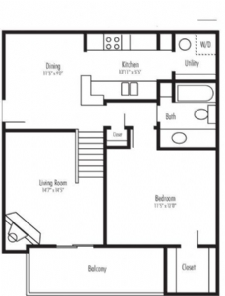 937 sq. ft. Silverstrand floor plan