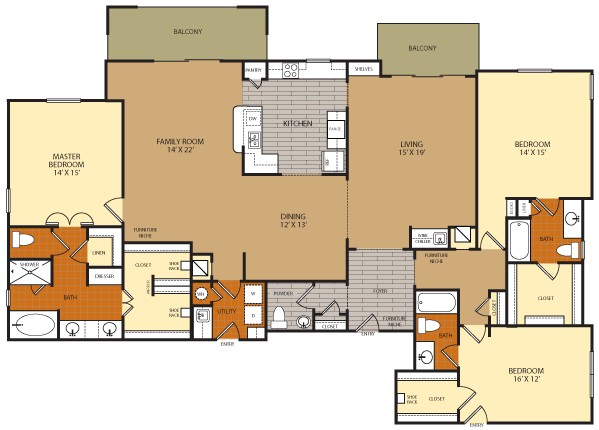 2,575 sq. ft. C5A floor plan