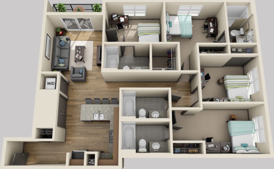 1,349 sq. ft. floor plan