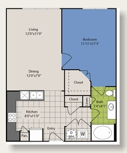 753 sq. ft. A4 floor plan