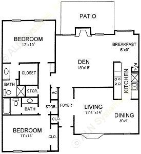1,453 sq. ft. G floor plan