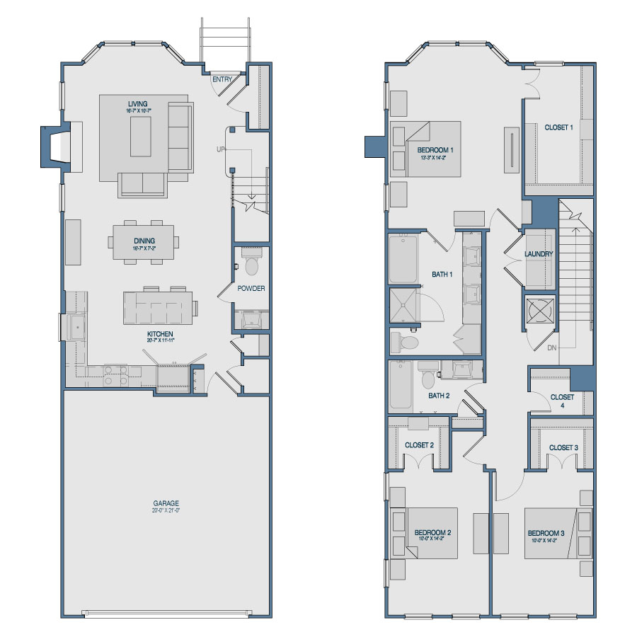 1,856 sq. ft. TH6 floor plan