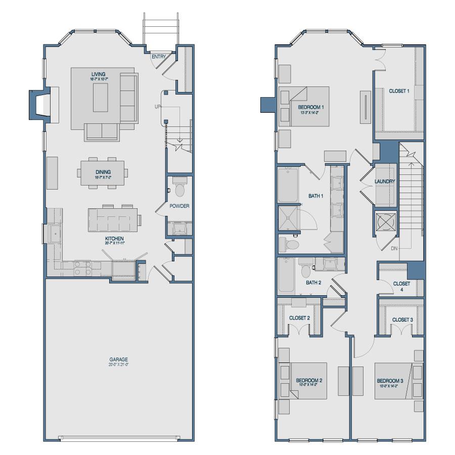 1,856 sq. ft. TH6 floor plan