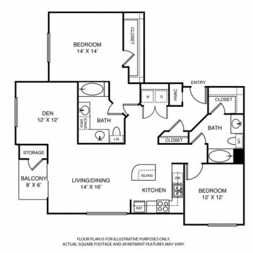 1,527 sq. ft. B4 floor plan