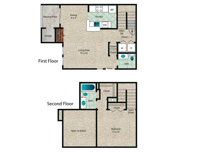 812 sq. ft. Palm floor plan