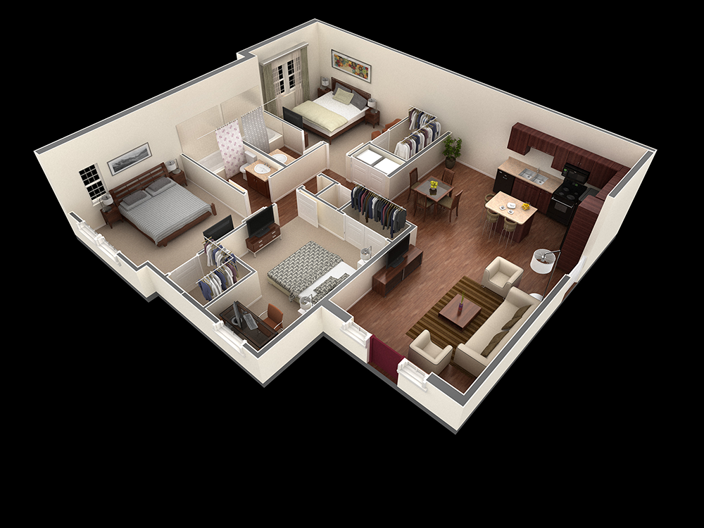 1,336 sq. ft. Joplin floor plan