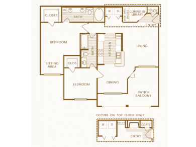 1,099 sq. ft. B4 floor plan