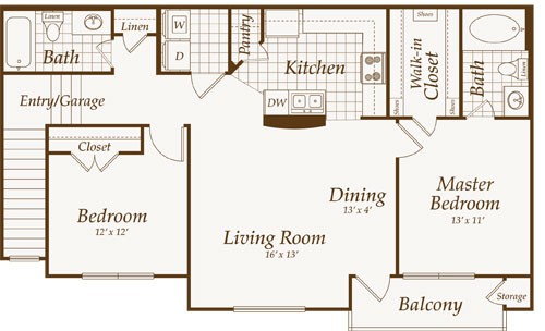 1,084 sq. ft. Atlantic-up floor plan