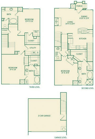 2,225 sq. ft. C3 floor plan
