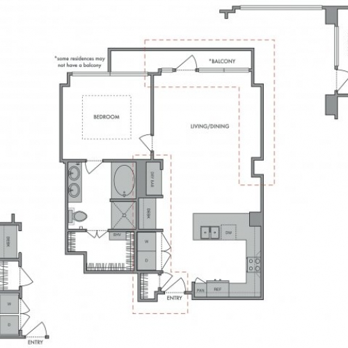 838 sq. ft. F floor plan