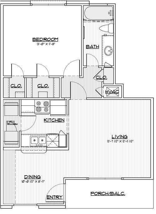 686 sq. ft. 30% floor plan