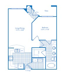 737 sq. ft. St Thomas floor plan