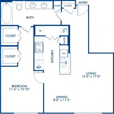 843 sq. ft. COLUMBUS floor plan