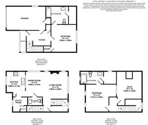 1,271 sq. ft. TH4-GAR floor plan