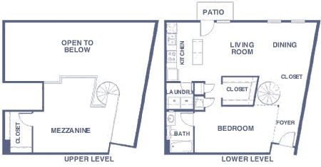 1,192 sq. ft. BLR floor plan