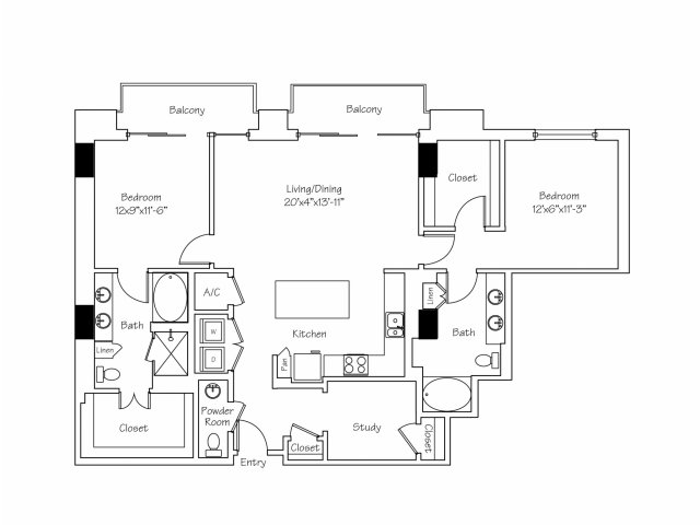 1,536 sq. ft. B7 floor plan