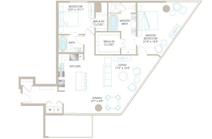 1,561 sq. ft. C9b floor plan