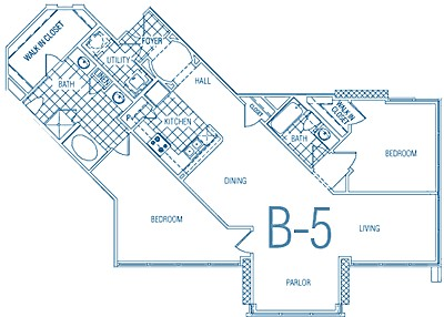 1,313 sq. ft. B5 MKT floor plan
