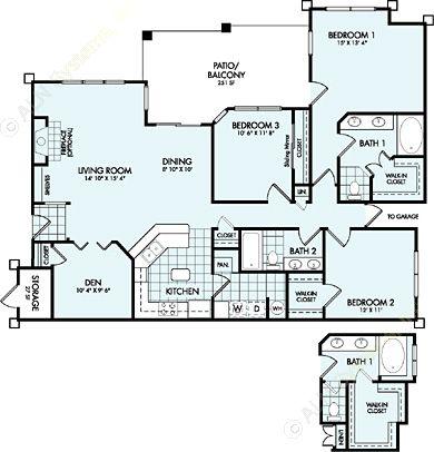 1,644 sq. ft. C2L floor plan