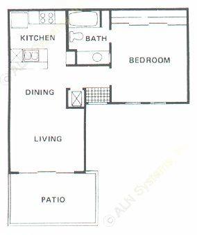 574 sq. ft. A1 floor plan