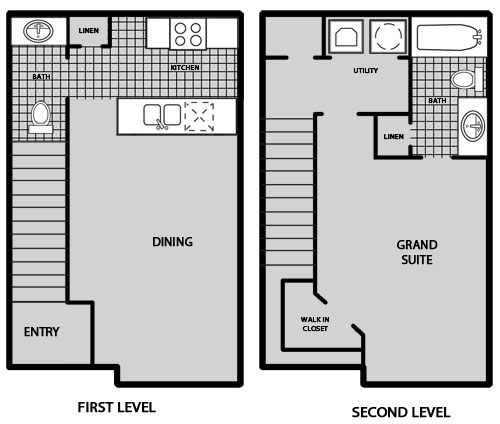 809 sq. ft. A2 60% floor plan