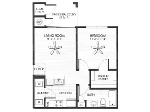 556 sq. ft. Slate floor plan