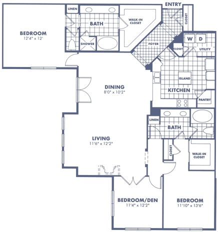 1,943 sq. ft. C1 floor plan