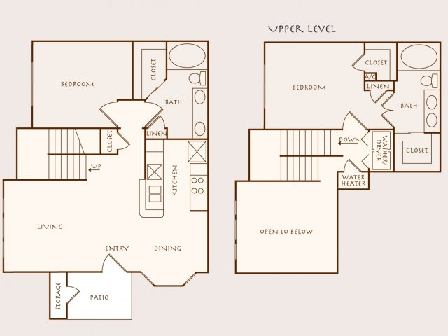 1,262 sq. ft. B4 floor plan