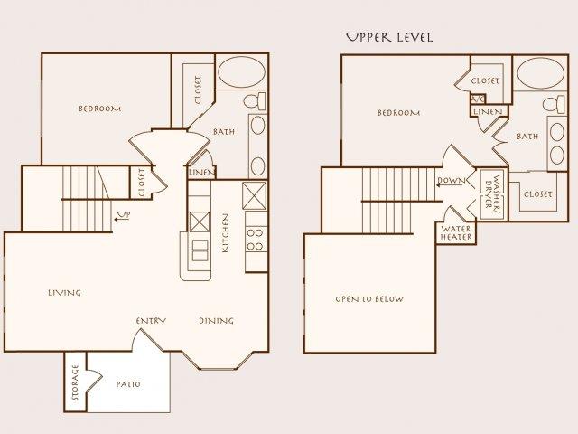 1,262 sq. ft. Palmetto floor plan