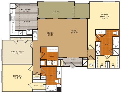 1,859 sq. ft. C1A floor plan