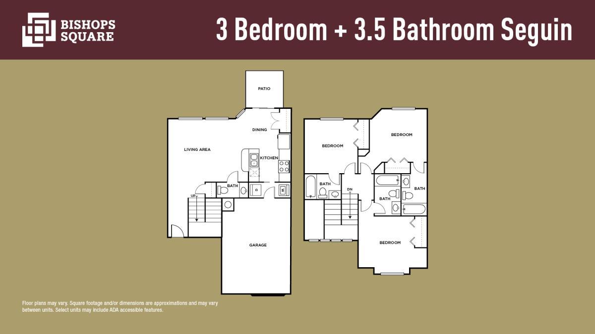 1,257 sq. ft. SEGUIN floor plan