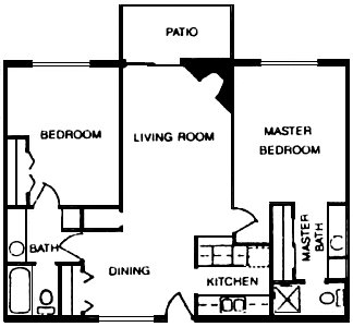 951 sq. ft. floor plan