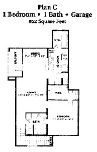 852 sq. ft. 50 floor plan