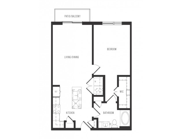 764 sq. ft. A1.1 floor plan