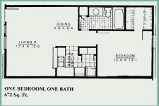 672 sq. ft. floor plan