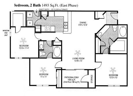 1,390 sq. ft. to 1,494 sq. ft. I floor plan
