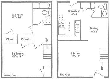 1,114 sq. ft. to 1,168 sq. ft. N/O floor plan