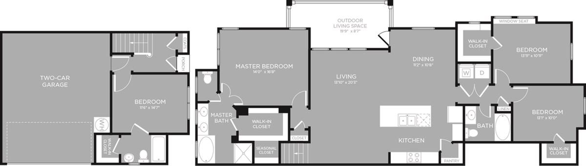 1,917 sq. ft. Wild Mint floor plan