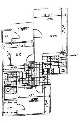715 sq. ft. floor plan