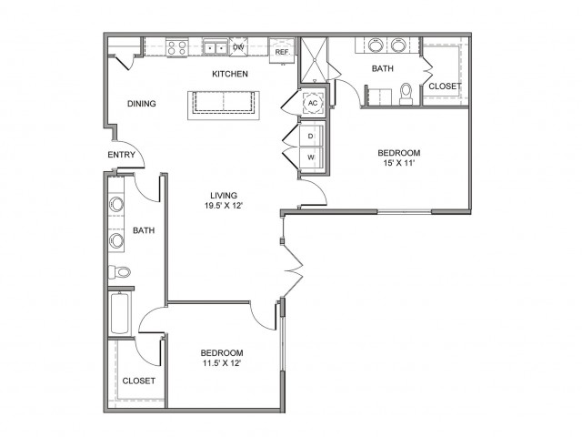 1,237 sq. ft. Jackson floor plan
