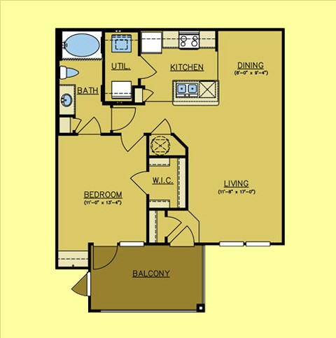 783 sq. ft. Stage Coach floor plan