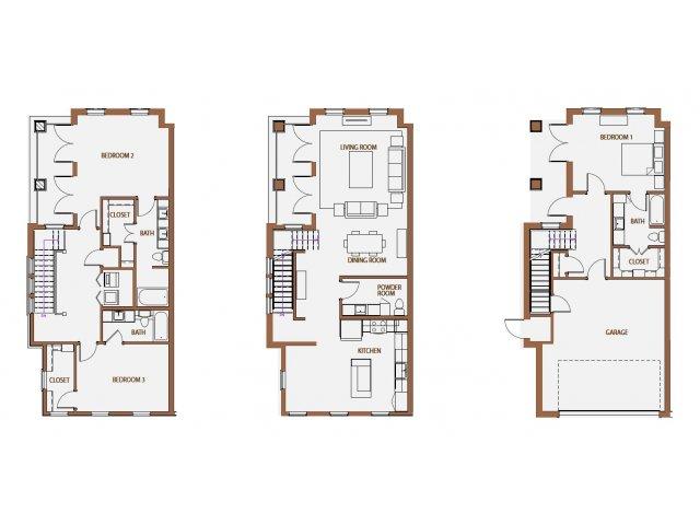 2,482 sq. ft. TH-4 floor plan