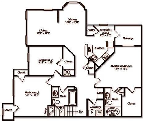 1,458 sq. ft. floor plan