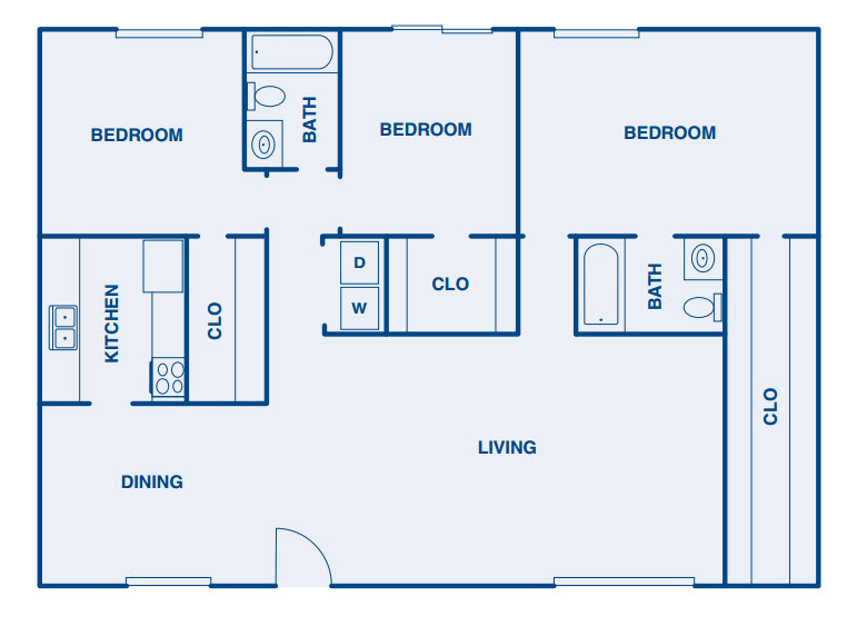 1,365 sq. ft. C1 floor plan
