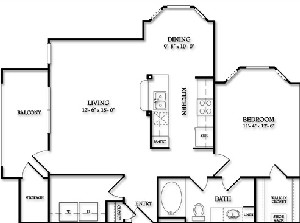 814 sq. ft. Highgrove floor plan
