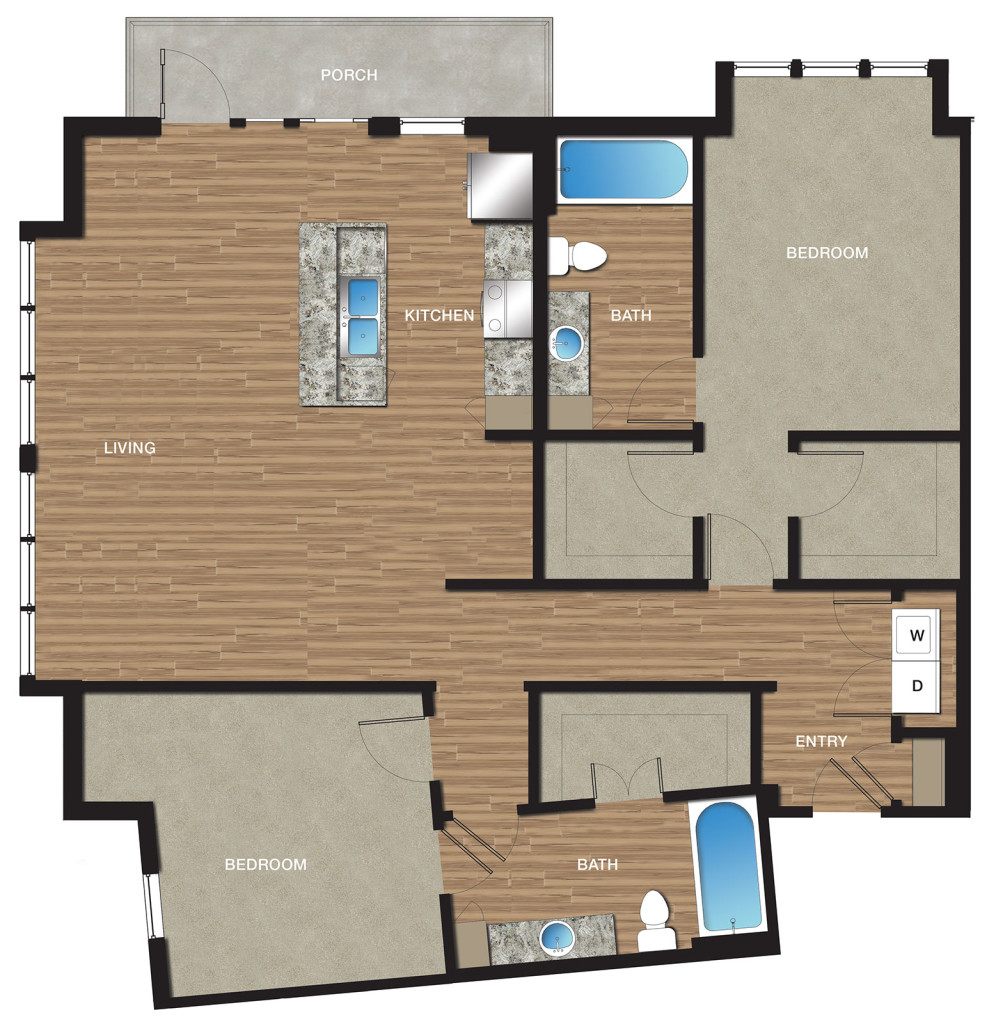 1,431 sq. ft. B10 floor plan