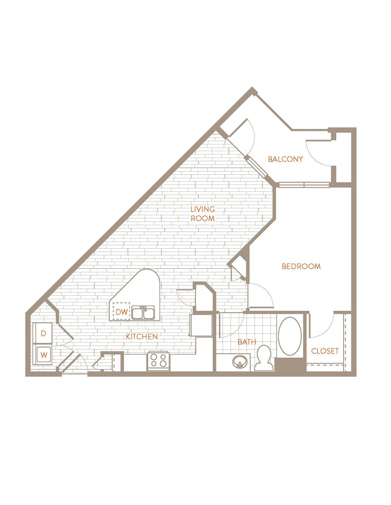 778 sq. ft. A4 floor plan
