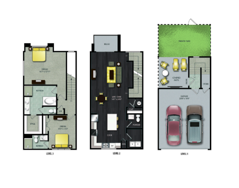 1,552 sq. ft. TH2 floor plan