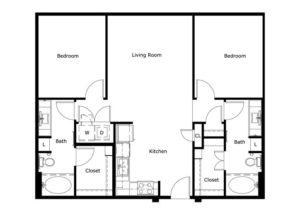 1,051 sq. ft. floor plan