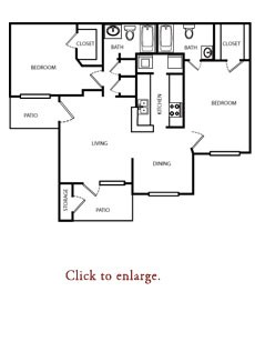 994 sq. ft. C floor plan